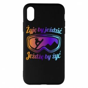 Phone case for iPhone X/Xs I live to ride