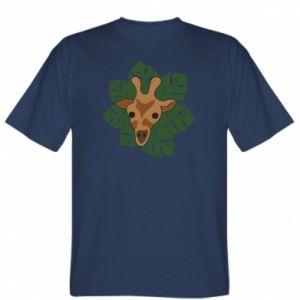 T-shirt Giraffe in monstera leaves