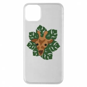 iPhone 11 Pro Max Case Giraffe in monstera leaves