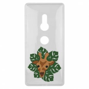 Sony Xperia XZ2 Case Giraffe in monstera leaves