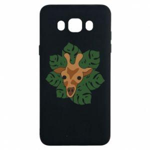 Samsung J7 2016 Case Giraffe in monstera leaves