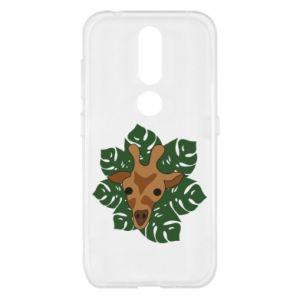 Nokia 4.2 Case Giraffe in monstera leaves