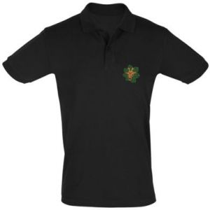 Men's Polo shirt Giraffe in monstera leaves