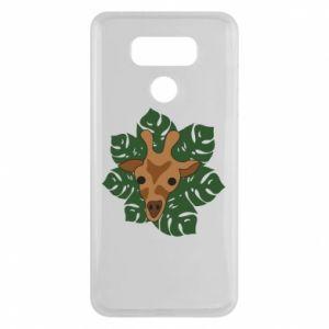 LG G6 Case Giraffe in monstera leaves